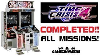 Namco TIME CRISIS 4 Arcade Game Complete Play Through!