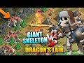 "DRAGON'S LAIR vs GIANT SKELETON - NEW Halloween TROOP in ""Clash of Clans"""