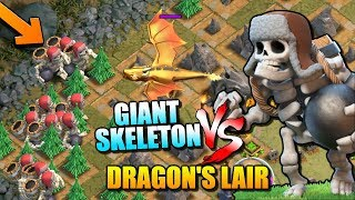 "DRAGON'S LAIR vs GIANT SKELETON - NEW Halloween TROOP in ""Clash of Clans"""