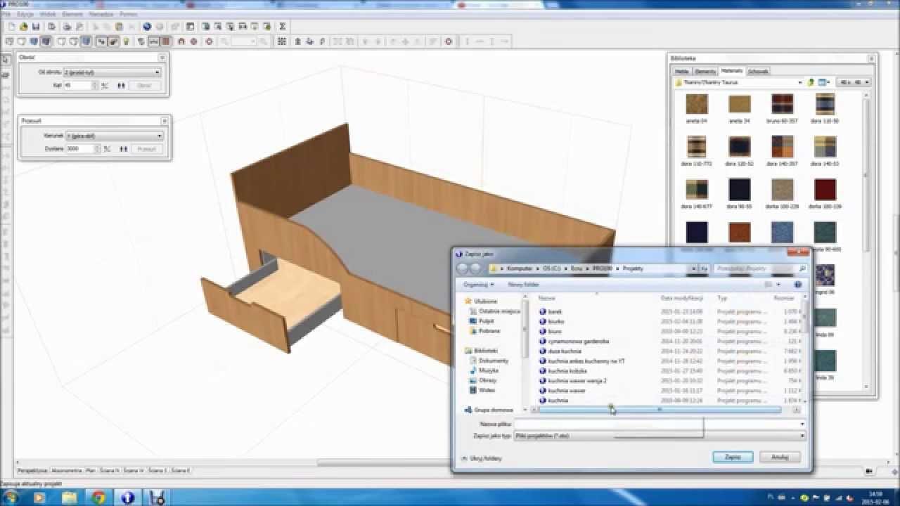 Niesamowite Łóżko dziecięce, jak zrobić, jak zaprojektować, projekt w PRO100 XB76