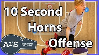 10 Second Horns Basketball Plays   Quick Hitting Horns Basketball Plays