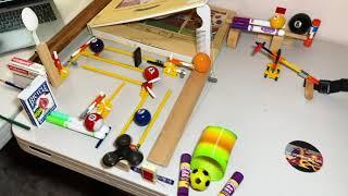 NASEF 2021 Digital Rube Goldberg Minecraft Contest - build a chain-reaction contraption!