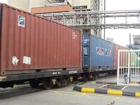 Freight Cargo Train of Malaysia