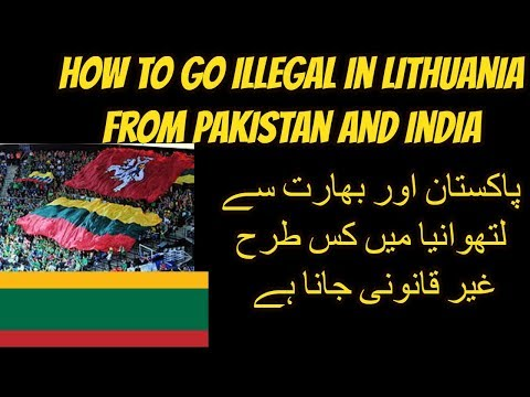 how to go Lithuania in hindi&urdu 2018