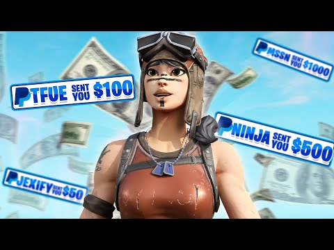 I Put My PAYPAL In My FORTNITE NAME And Made This Much Money... (EASIEST Way To Make Money?)