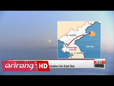 N. Korea fires three Rodong missiles during G20 talks