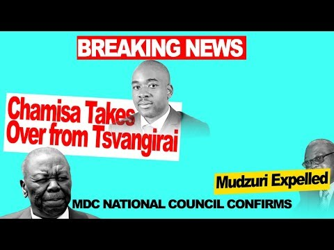 Chamisa  Takes  Over MDC replacing Tsvangirai, Mudzuri Out,  Zimbabwe Latest Breaking News Today