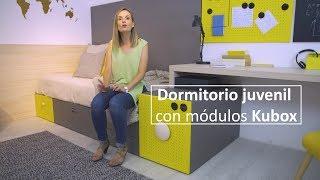Dormitorio juvenil con módulos Kubox