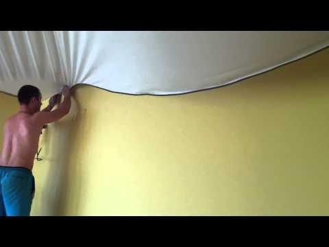 Натяжные потолки в спальне -