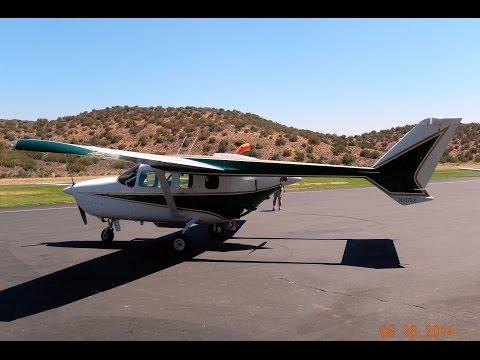 Flight in Cessna 337G Super Skymaster Engine Start Up,Taxi