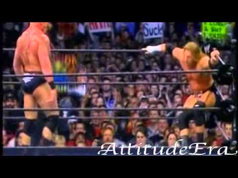 WWE GWT 2002 Triple H Vs Brock Lesnar Vs The Rock