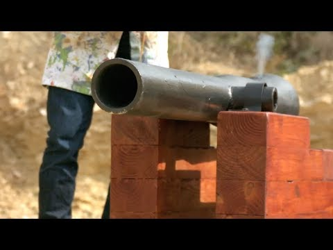 Cannon Firing in Slow Motion - The Slow Mo Guys