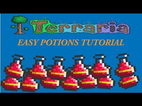 Terraria Tutorial For Noobs: EASY POTIONS