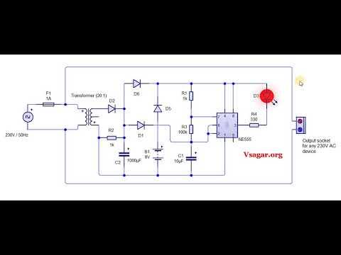 230V AC mains operated IC555 fuse indicator cum pilot lamp