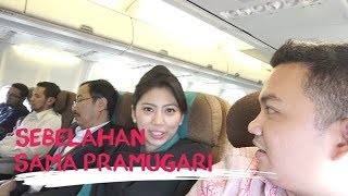 Sebelahan Sama Pramugari Garuda Indonesia