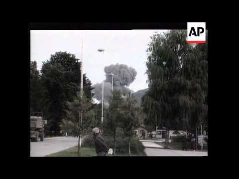 BOSNIA: FRENCH NATO PLANE SHOT DOWN SITUATION UPDATE