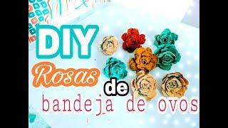 DIY: Flores de bandeja de ovos – MUITO FÁCIL