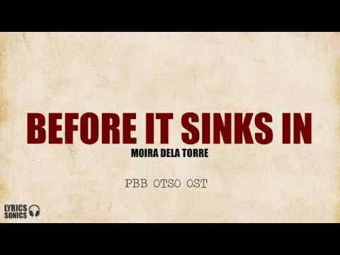 Download Moira Dela Torre - Before It Sinks In (PBB Otso OST) Lyrics