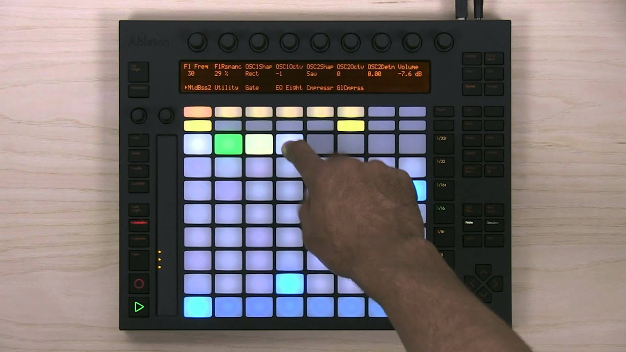 Ableton Push 1 Tutorial Part 8 Step Sequencing