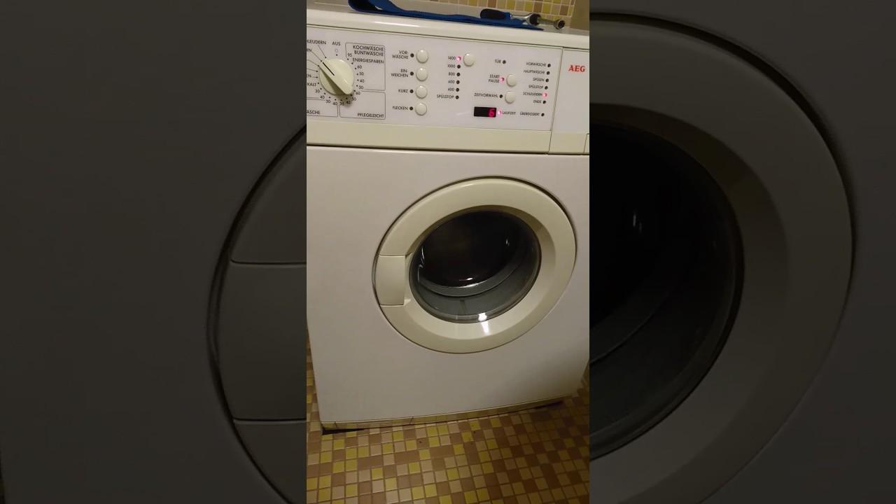 aeg lavamat waschmaschine testlauf nach einbau youtube. Black Bedroom Furniture Sets. Home Design Ideas
