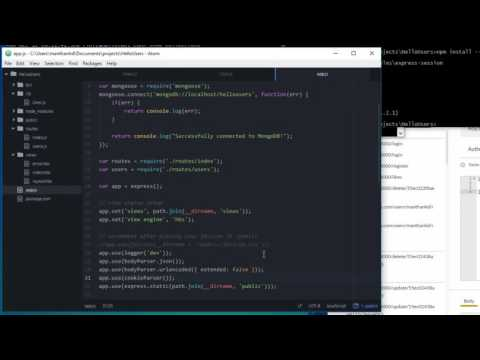 Creating and persisting a Login session - Node.js Tutorial 18