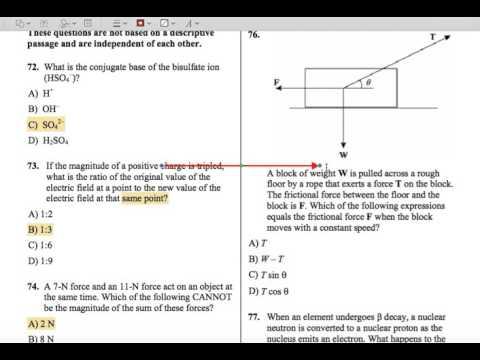 mcat 2015 chemistry physics selected mc 1 curvesetter tutoring rh youtube com MCAT Chemistry 1001 Questions MCAT Physics