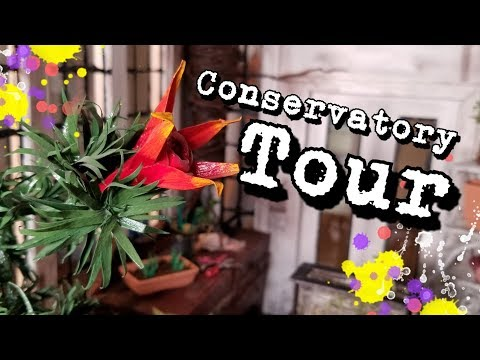 Morticia's Conservatory Tour - Addams Family Mini Mansion