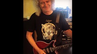Brian May Rehearsing with Red Special Guitar From Instagram BrianMayForReal