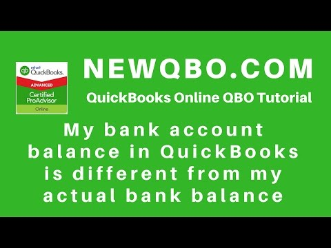 QuickBooks Online - My bank balance is different than actual balance in QuickBooks register