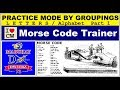 Ham Radio: Morse Code Trainer/Practice Mode By Groupings - Letters Only