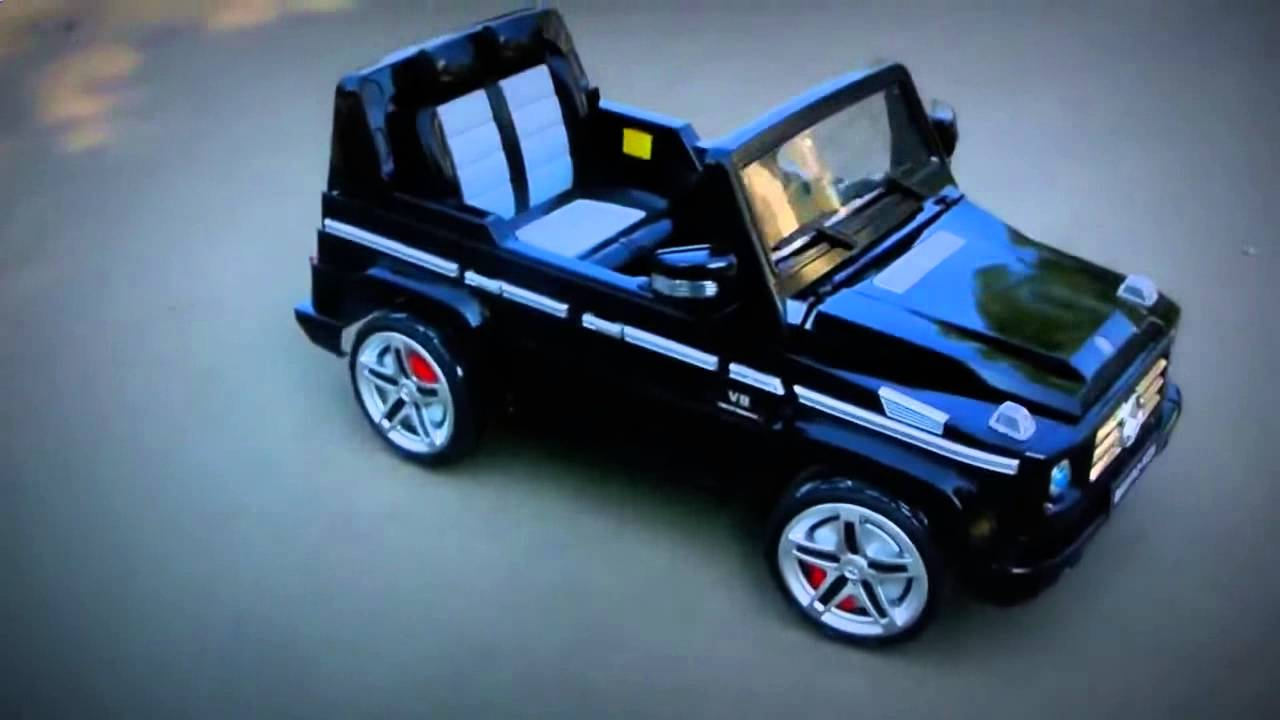 Electric car kids jeep mercedes benz g55 amg youtube for Mercedes benz kids car