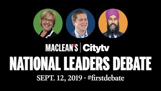 National Leaders Debate 2019: Full video | Maclean's and Citytv