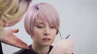 Превью видеоурока- Женская стрижка при помощи блейда и ножниц