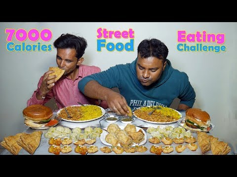 7000 Calories Food Eating Challenge | NOODLES, SAMOSA, BURGER, GOLGAPPA | Food Challenges India