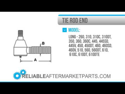 1775 TX10812 New Long Tractor Tie Rod End 260 310 310C 350 360 445 – Long 350 Tractor Wiring Diagram