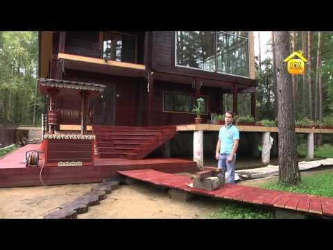 видео: Деревянные дорожки «Дома-фрегата». Своими руками // forumhouse