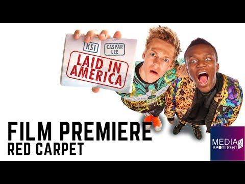 Laid In America - Red Carpet (World Premiere) - KSI & Caspar Lee: Media Spotlight UK