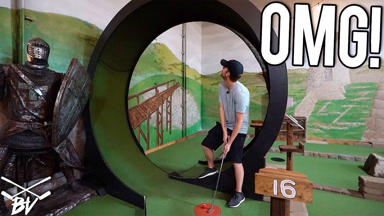 THE BEST MINI GOLF COURSE IN THE WORLD! - MINI GOLF HOLE IN ONE AND CRAZY  HOLES!