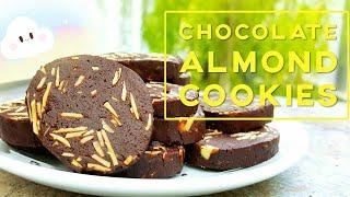 巧克力杏仁餅 ❤ How to make Chocolate Almond Cookies
