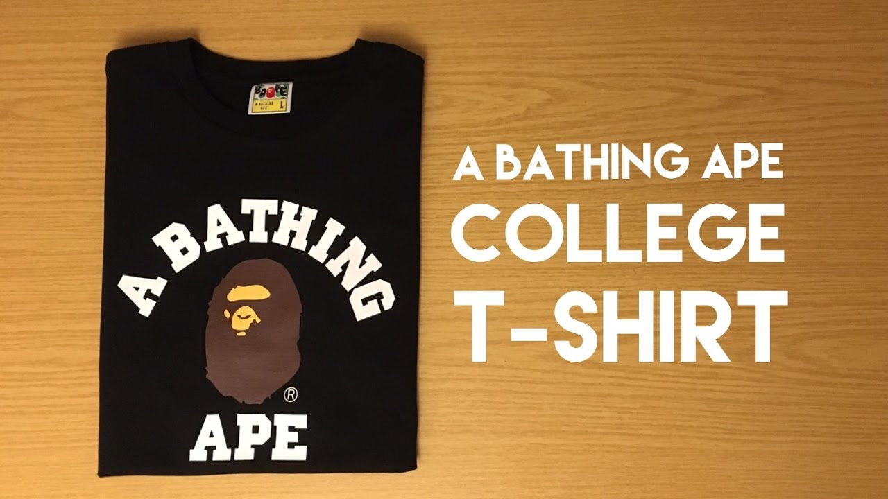 6da7b254 A Bathing Ape College T-Shirt - Review - YouTube