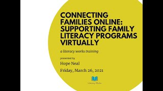 Connecting Families Online:  Supporting Family Literacy Programs Virtually