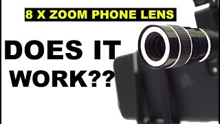 Universal 8x Zoom Telescope phone Lens! THE ULTIMATE REVIEW!!