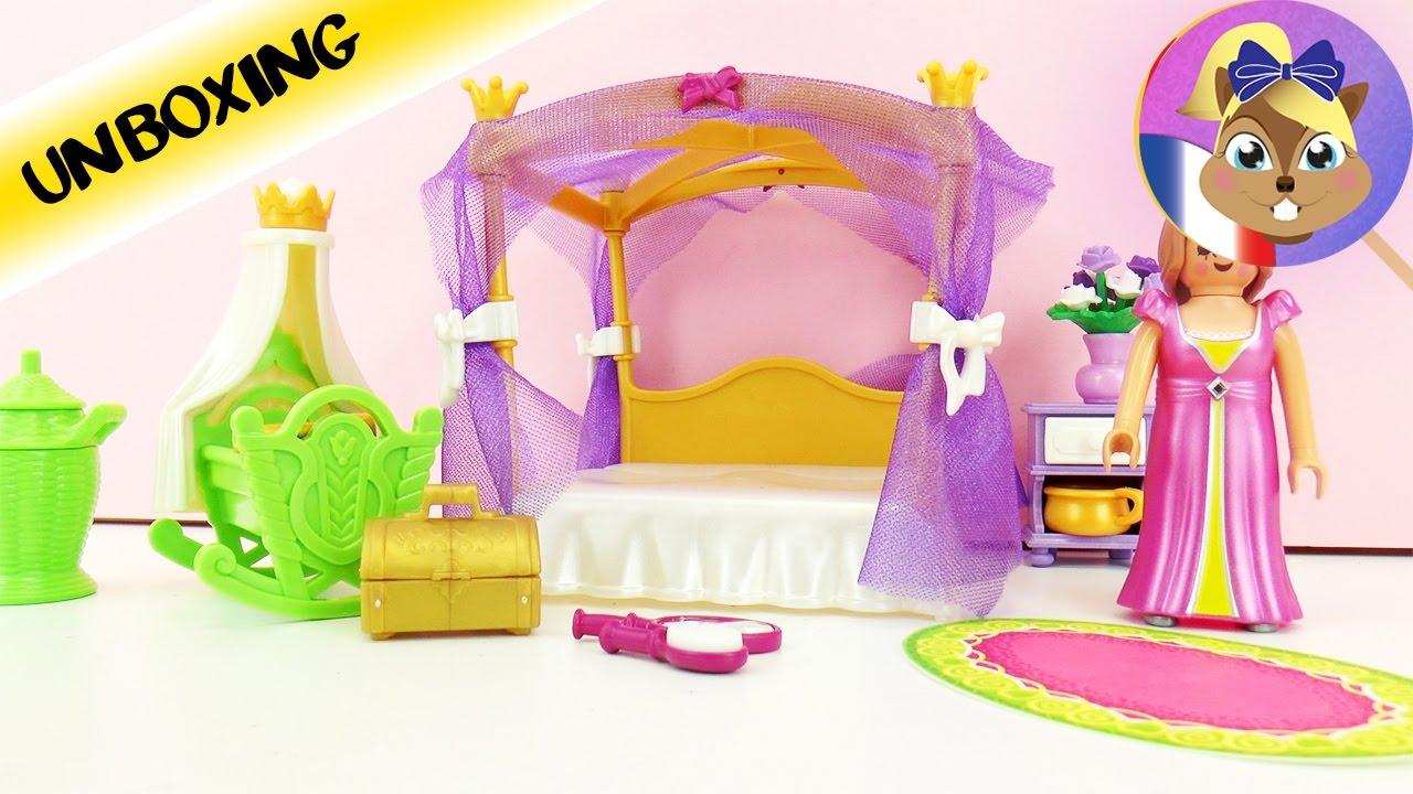 chambre coucher de princesse avec un lit baldaquin playmobil 6851 - Playmobil Chambres Princesses