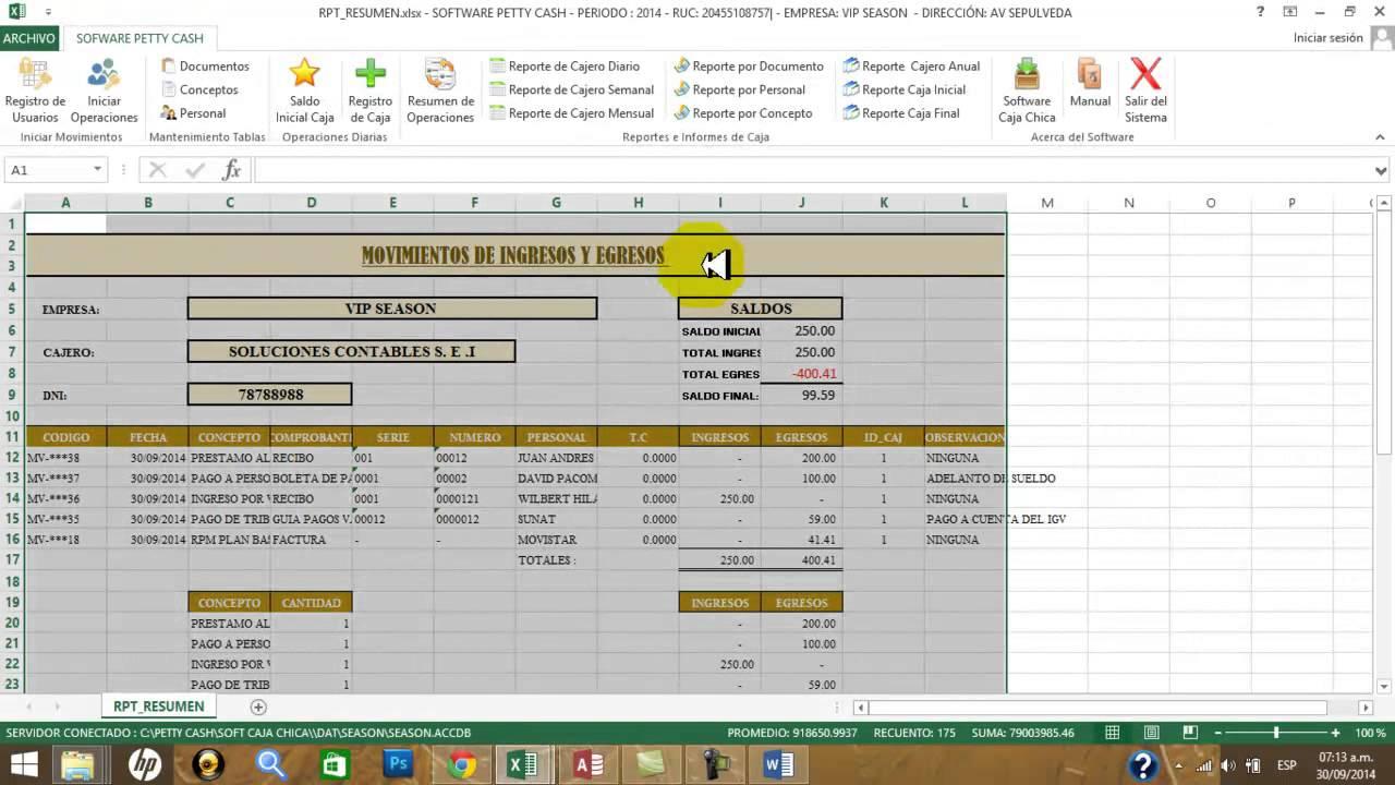 Sistema de Caja Chica en VBA Excel - YouTube