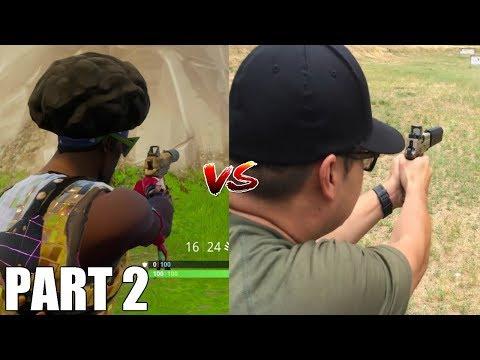 Fortnite Weapons In Real Life! *Updated* (Hand Cannon, Hunting Rifle, Mini-Gun And More!)
