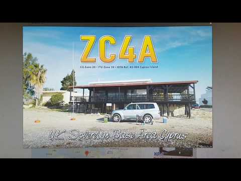 ZC4A, British Military Bases, CYPRUS, 7MHz, SSB, Worked by HL2WA