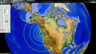 4/23/2014 -- 6.8M earthquake strikes Vancouver Island British Columbia / Canada