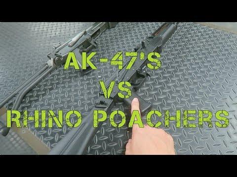 SHOOTING RHINO POACHERS // AK-47's // SOUTH AFRICA