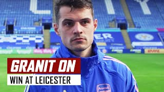 'We have to constantly be like this' | Granit Xhaka post-Leicester interview | Premier League