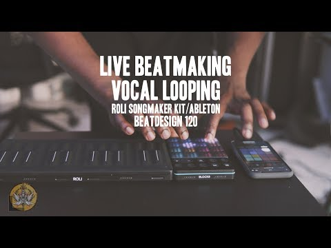 BD 120 ROLI Songmaker Kit Live Beatmaking And Vocal Looping Improv. By Thomas Piper